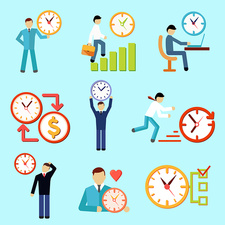 Time management icons, illustration