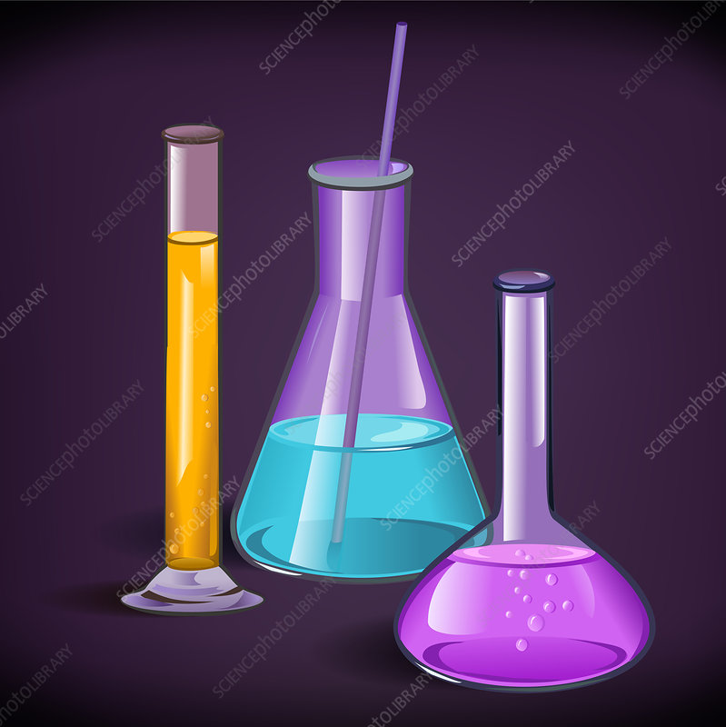 Laboratory glassware, illustration