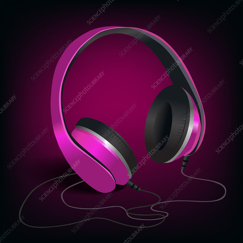 Headphones, illustration