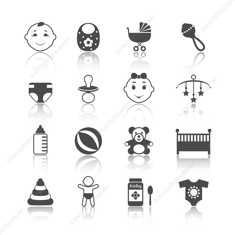 Baby icons, illustration