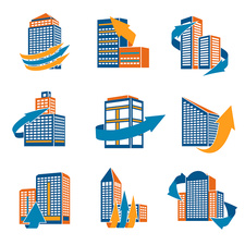 Office buildings, illustration