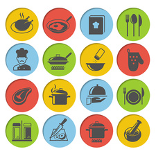Cooking icons, illustration
