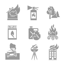Fire icons, illustration