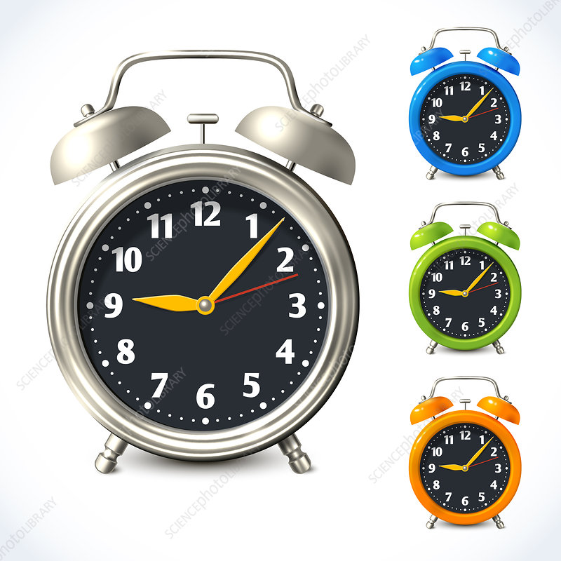 Alarm clocks, illustration