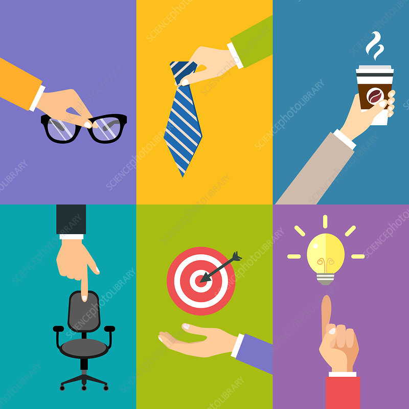 Business activities, illustration