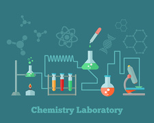 Chemistry laboratory, illustration