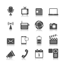 Media icons, illustration