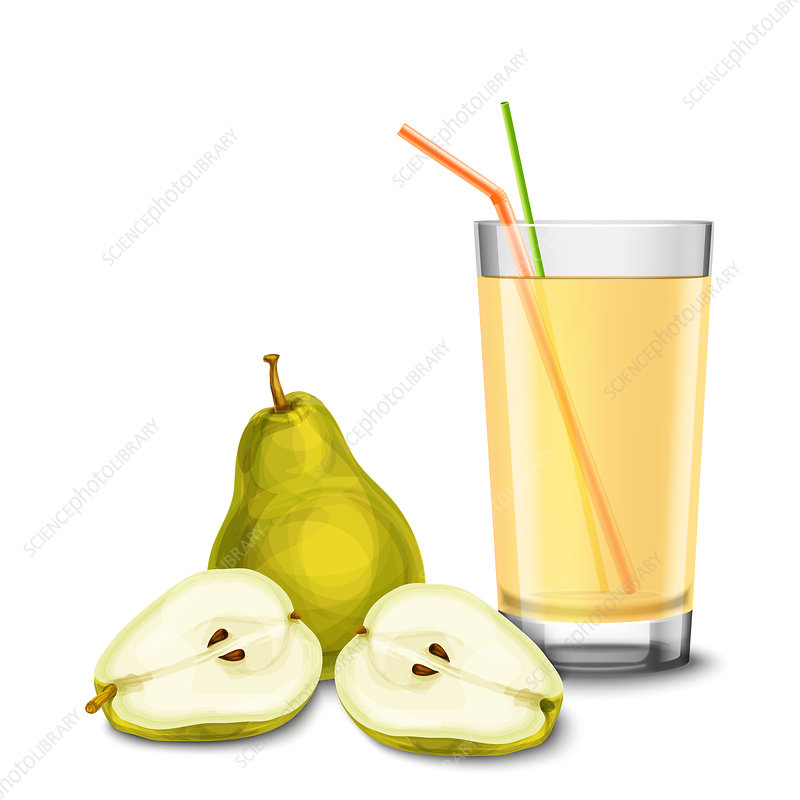Pear juice, illustration
