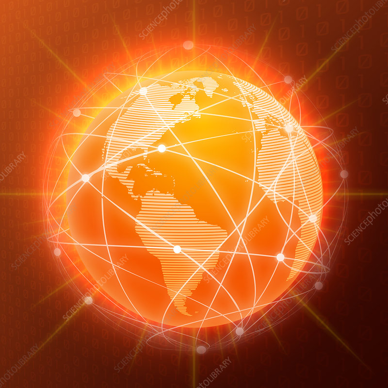 Global network, illustration