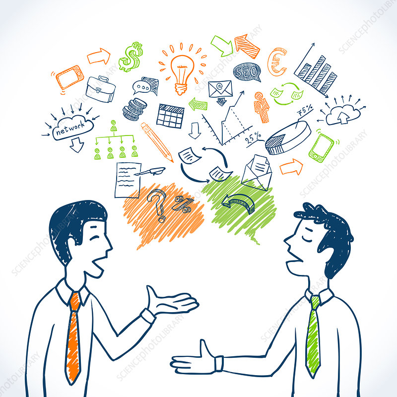 Business conversation, illustration
