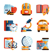 School icons, illustration