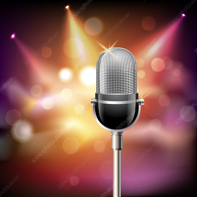 Microphone, illustration