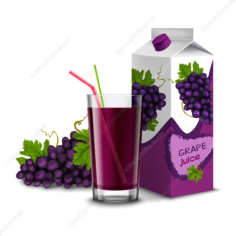 Grape juice, illustration