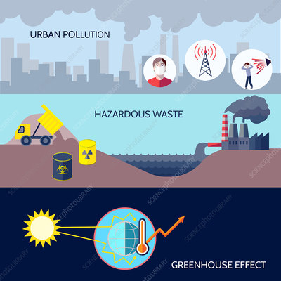 Pollution, illustration