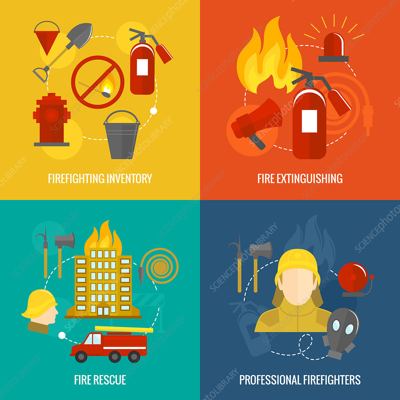 Firefighting, illustration