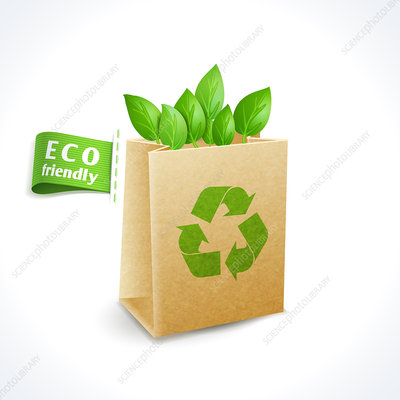 Green packaging, illustration