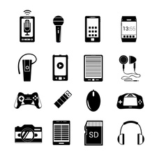 Electronics and accessories, illustration