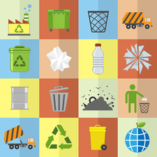 Recycling icons, illustration