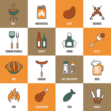 Food and drink icons, illustration