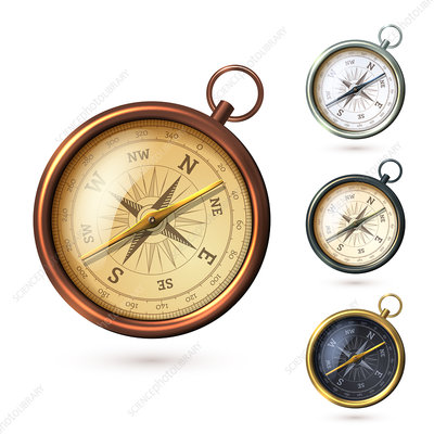 Compass, illustration