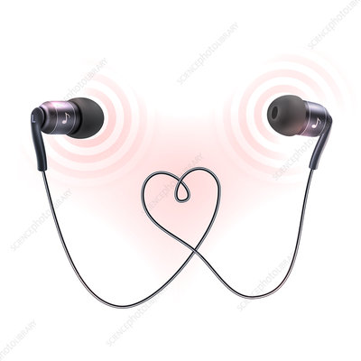 Earphones, illustration