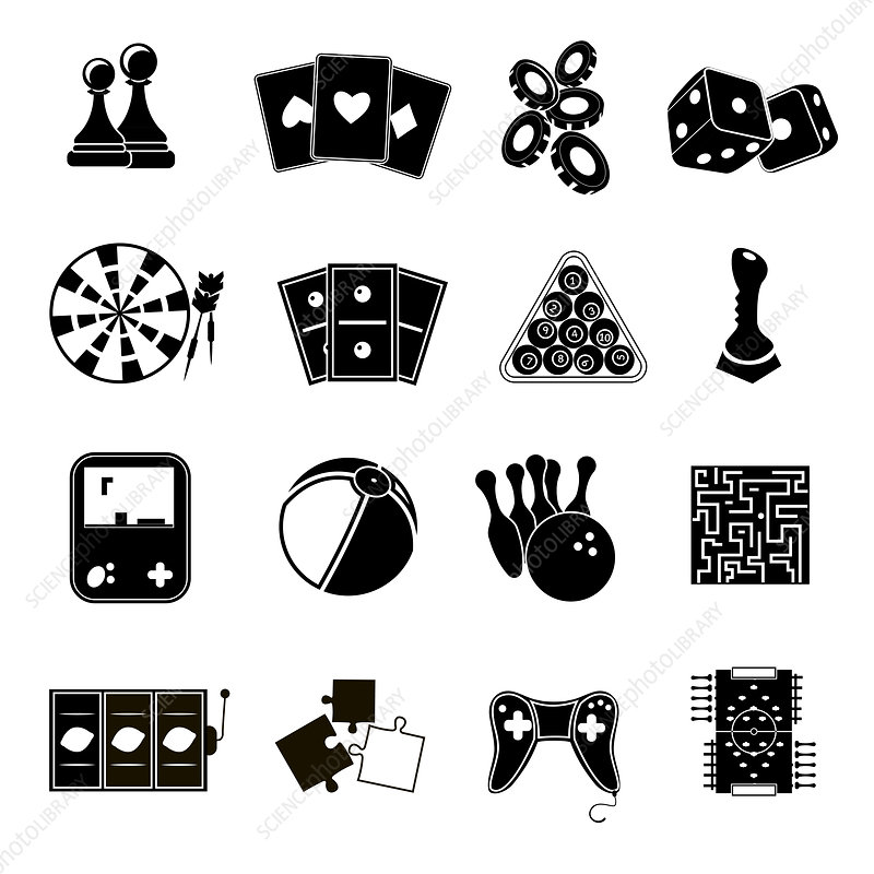 Games icons, illustration