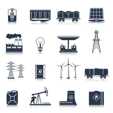 Energy icons, illustration