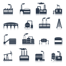 Industry icons, illustration