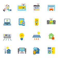 Smart home icons, illustration
