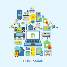 Smart home, illustration