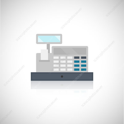 Cash register, illustration