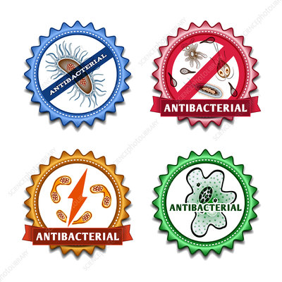 Antibacterial agents, illustration