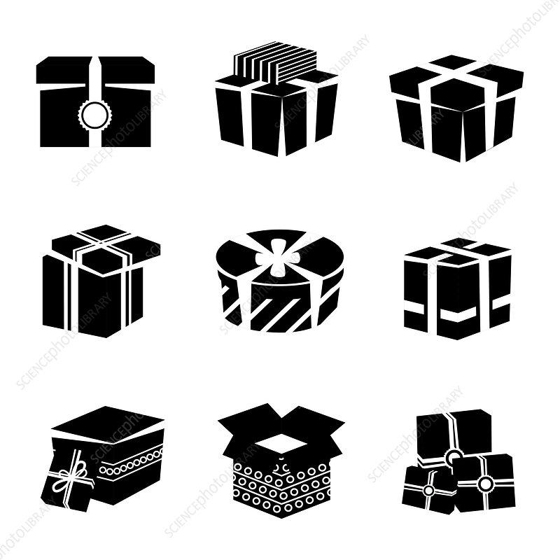 Gift icons, illustration