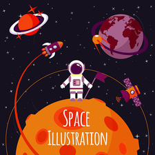 Space, illustration