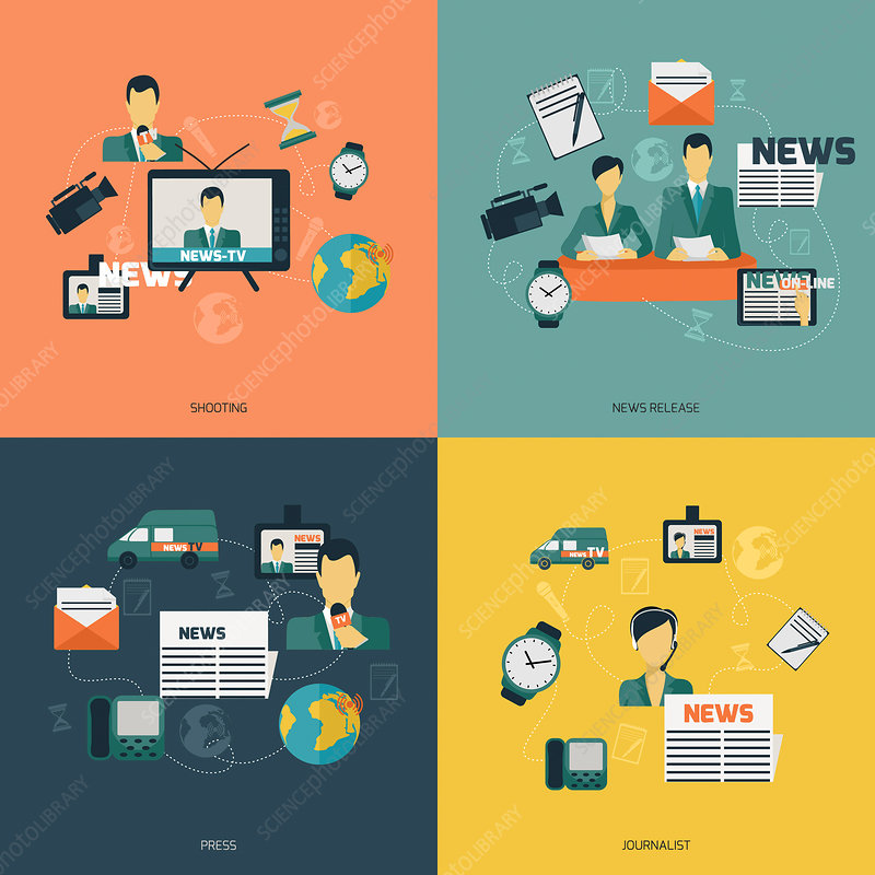 News media, illustration