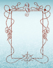 Nautical frame, illustration