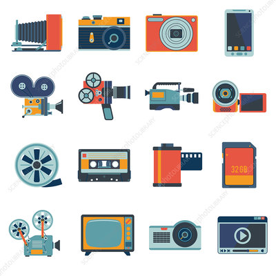 Multimedia icons, illustration