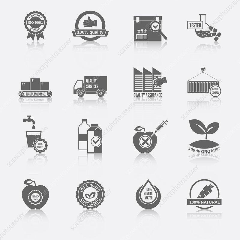 Quality control icons, illustration