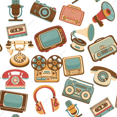 Retro gadgets, illustration