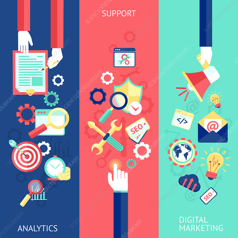 Digital marketing, illustration