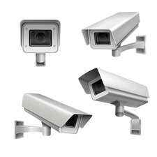 Surveillance cameras, illustration