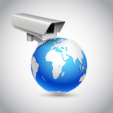 Global surveillance, illustration