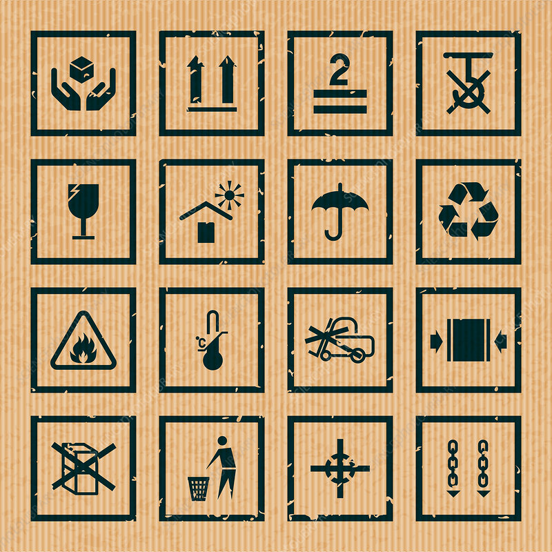 Packaging icons, illustration