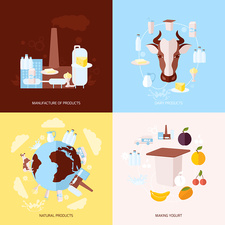Dairy products, illustration