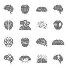 Brain icons, illustration