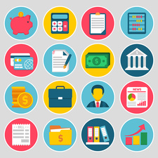 Accountancy icons, illustration