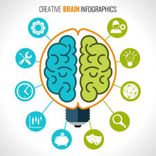 Creative brain, illustration