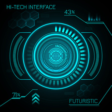 Futuristic dashboard, illustration