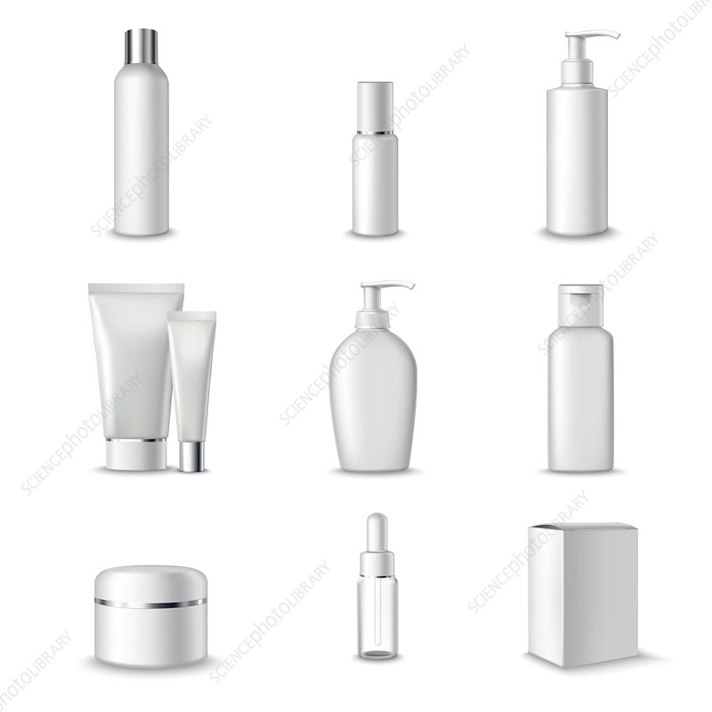 Cosmetic packaging, illustration