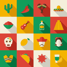 Mexican icons, illustration